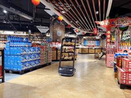 配送机器人上岗兰州精品超市