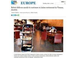 维也纳餐厅智能送餐机器人