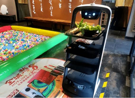 呷哺火锅店送餐机器人